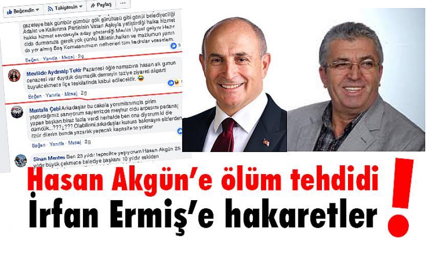 Akgün'e tehdit, Ermiş'e hakaretler!