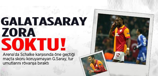 Galatasaray turu zora soktu: 1-1