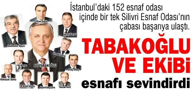 Tabakoğlu ve ekibi esnafı sevindirdi
