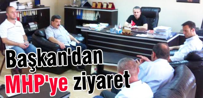 Başkan'dan MHP'ye ziyaret