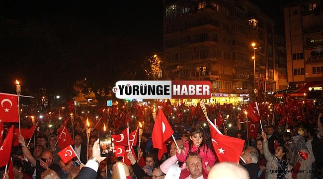 Binlerce Silivrili Cumhuriyet için yürüdü