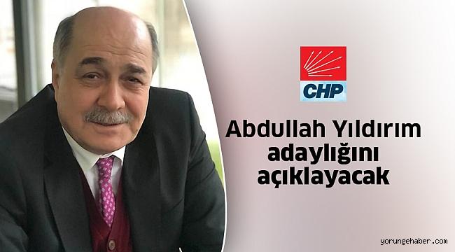 CHP'de Abdullah Yıldırım'da aday