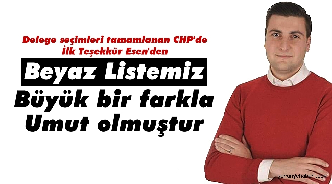 Esen'den partililerine teşekkür
