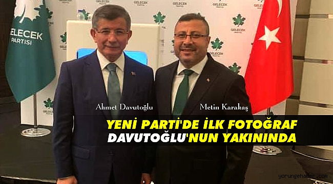 Karakaş'ın Davutoğlu ile ilk fotoğrafı