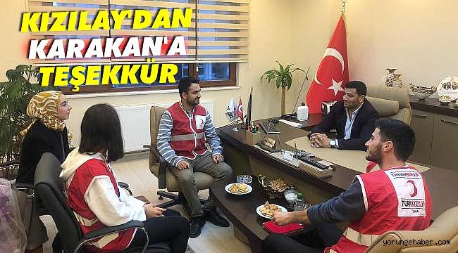 Kızılay'dan Karakan'a teşekkür