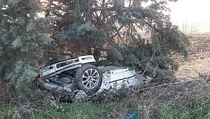 Silivri'de buzlanan yolda kaza: 1ölü