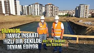 Yarı olimpik havuz inşaatı hızlı bir şekilde devam ediyor