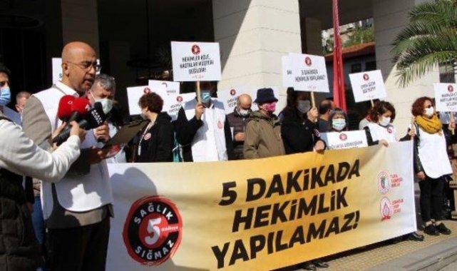 Hekimlerden 'süre' protestosu