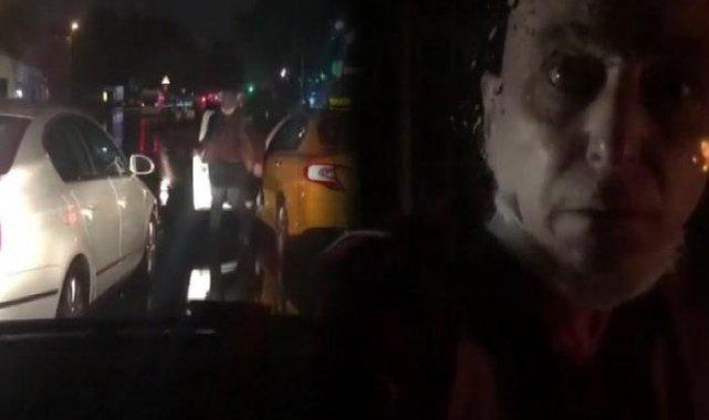 Yolunu kesti, küfürler yağdırdı... Taksici terör estirdi