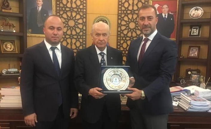 Başkan Yılmaz ve Yalçın, Devlet Bahçeli ile bayramlaştı