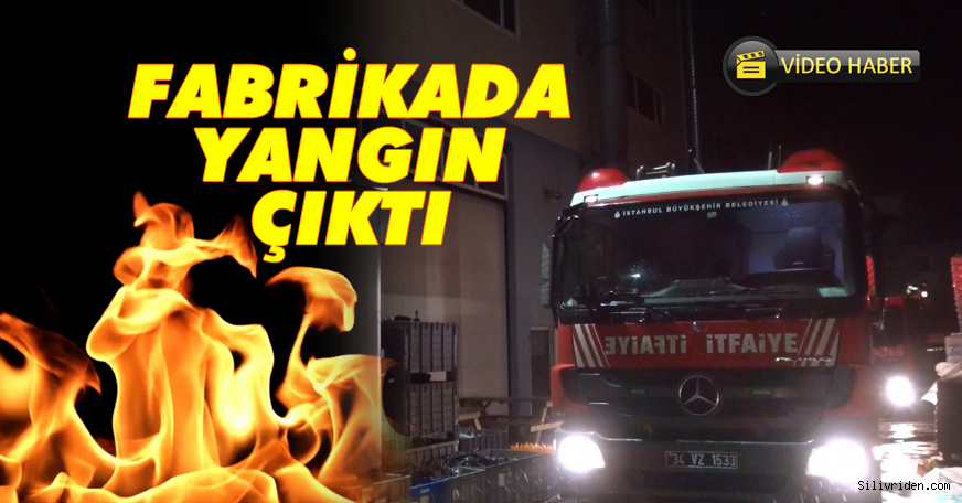Yedek parça fabrikasında yangın çıktı