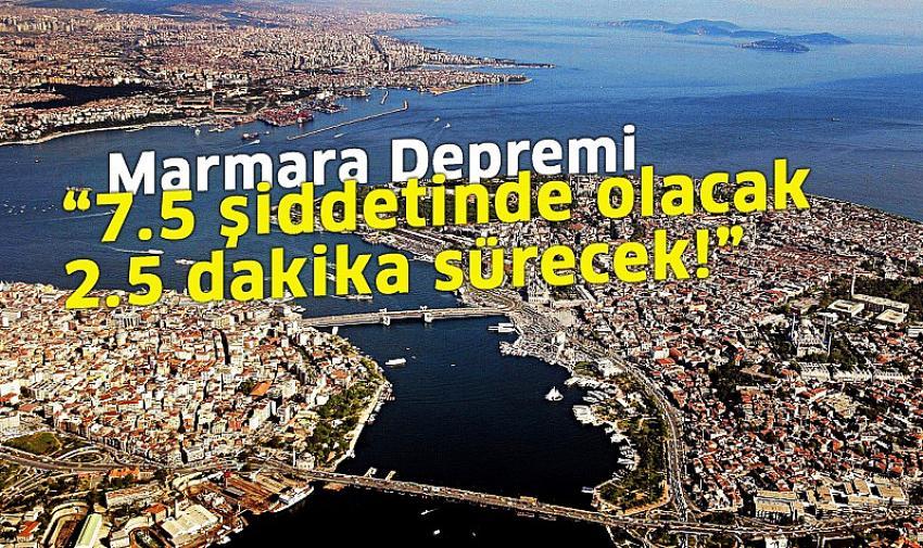 Marmara Depremi ile ilgili yeni açıklama