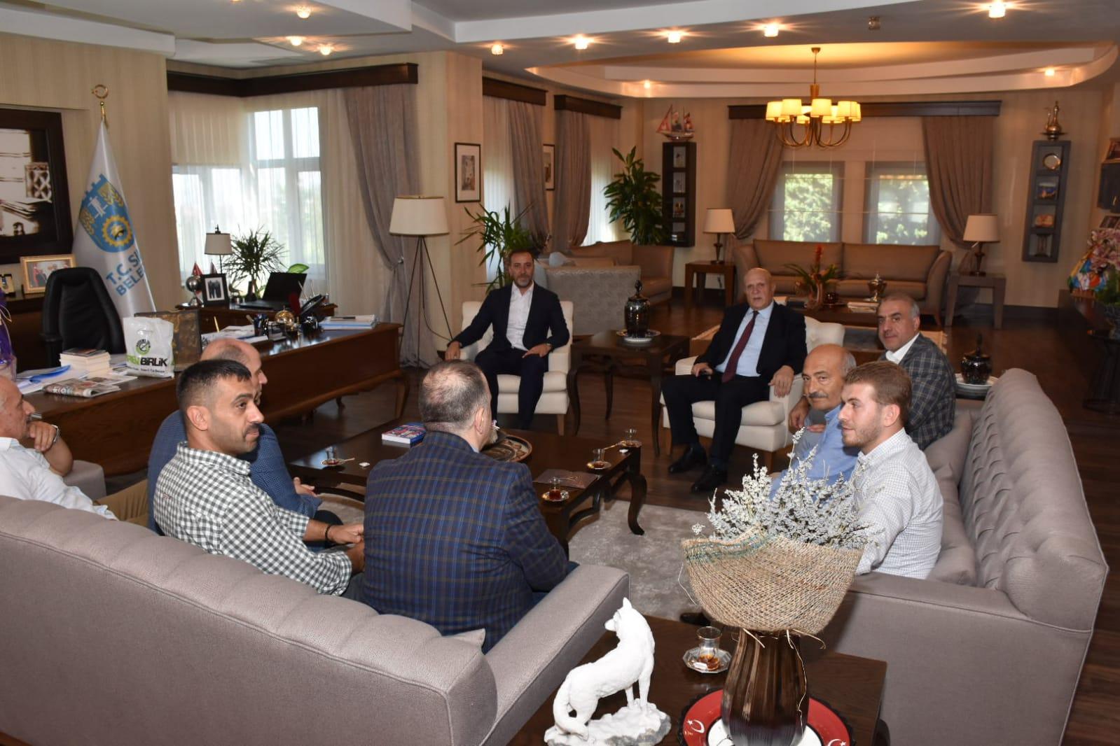 Bayburt Belediye Başkanı Pekmezci'den Yılmaz'a ziyaret