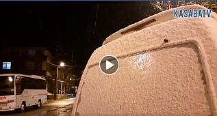 Silivri'ye yılın ilk karı düştü